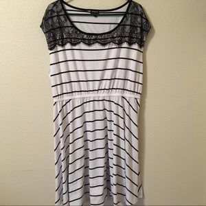Torrid Black & White Striped Summer Dress